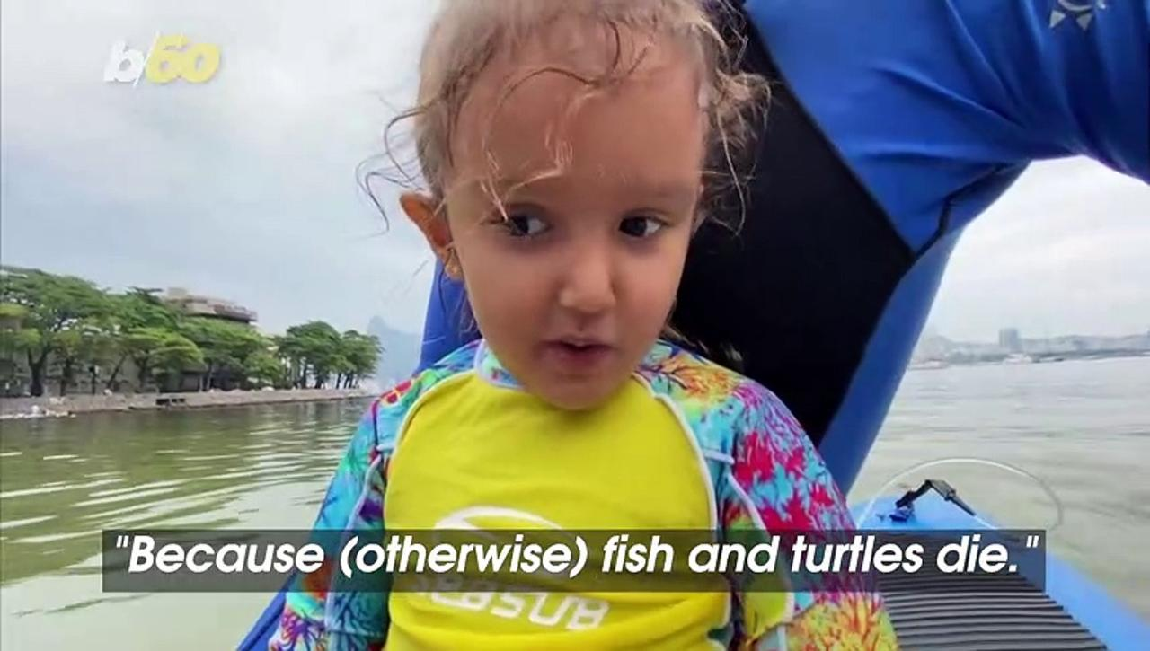 Watch 4-Year-Old Girl Help Save the Ocean With Her Dad in Beautiful Rio