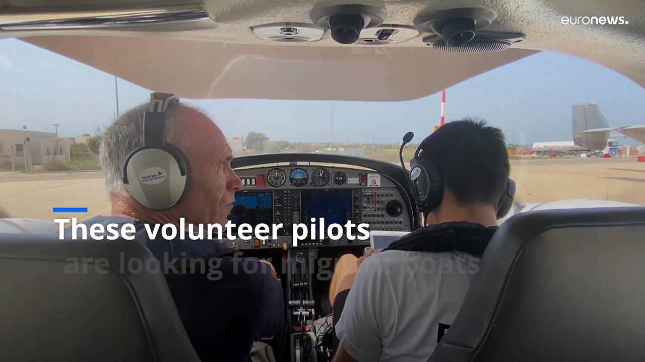 Meet the volunteer pilots trying to save lives on the world's deadliest migration route