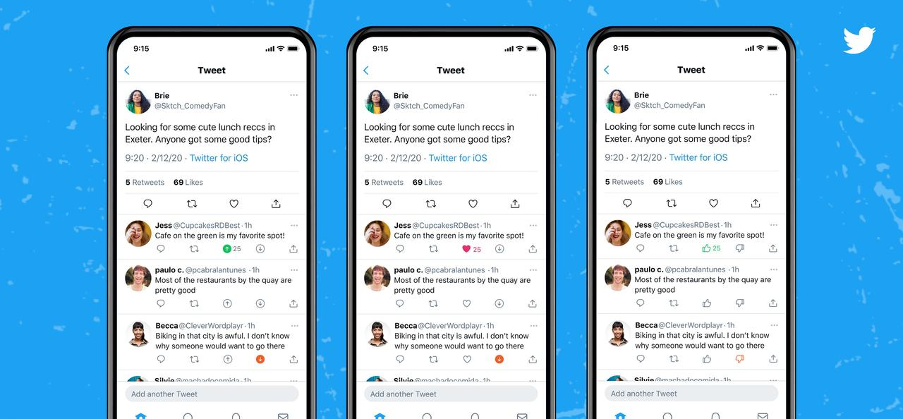 Twitter Is Testing Out a 'Downvote' Button