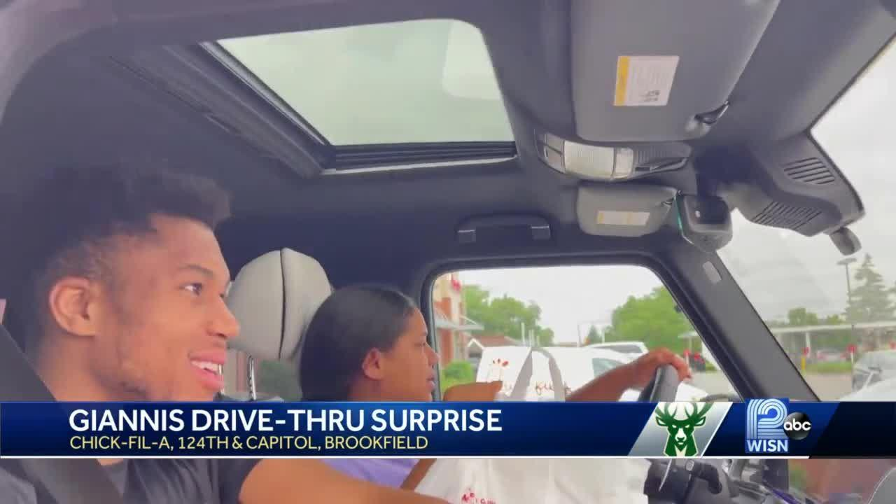 Giannis celebrates NBA Championship with trip to Chick-fil-A