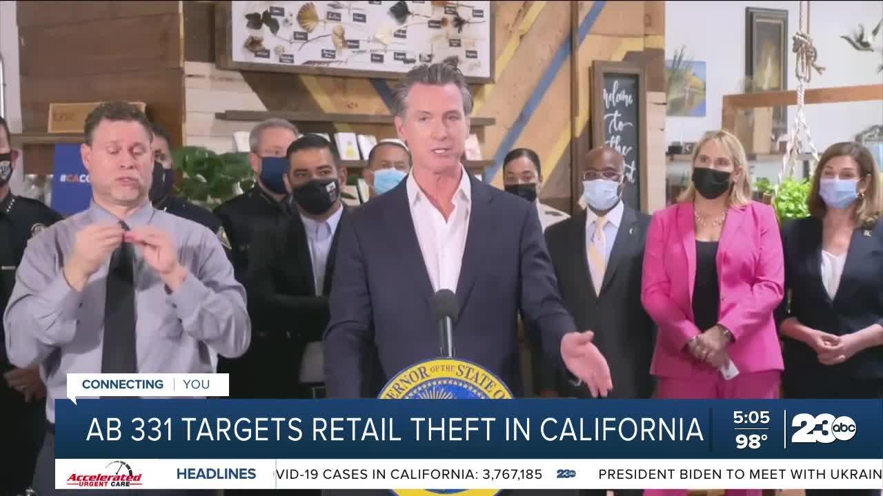 Governor Gavin Newsom targets retail theft in California