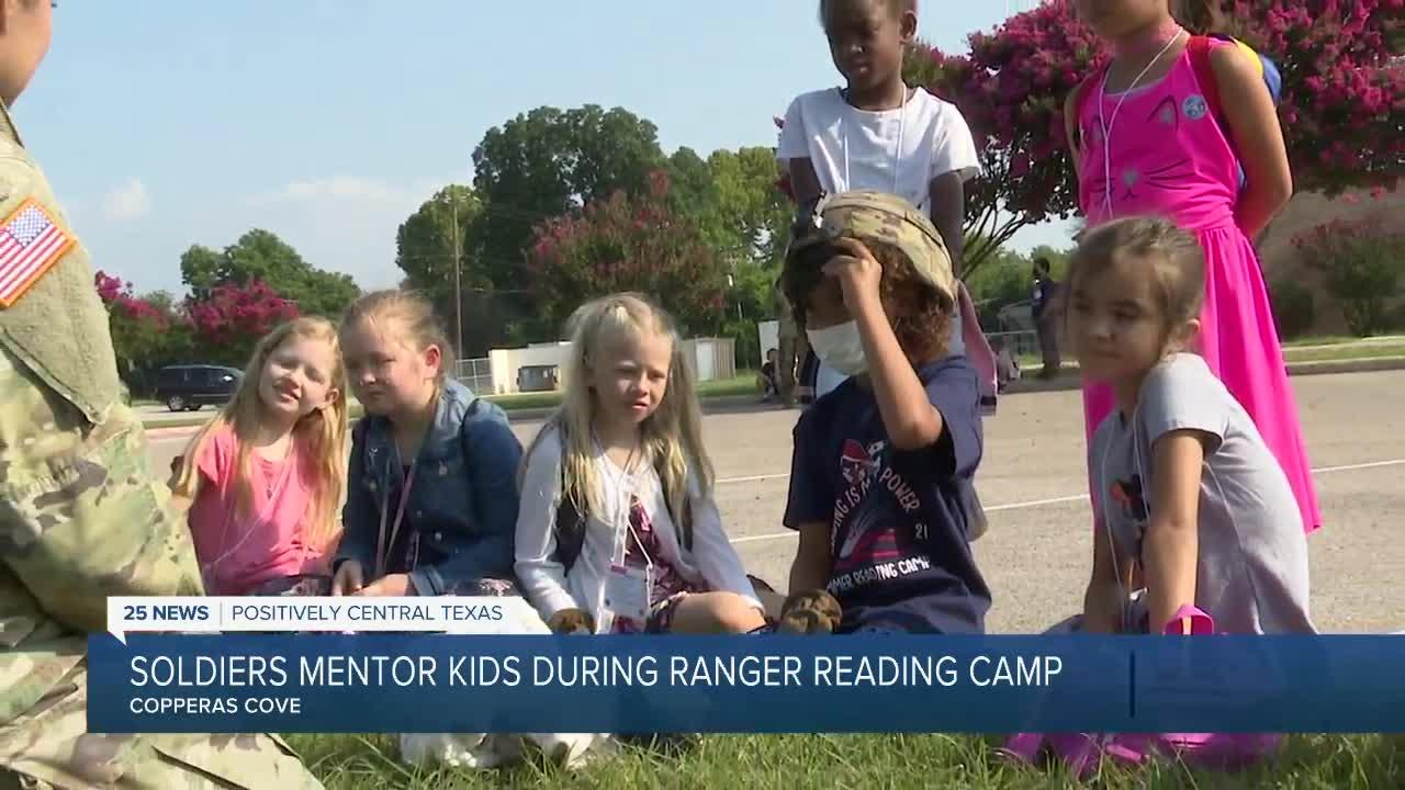 Soldiers visit CCISD Ranger Reading Camp as superheroes that promote literacy