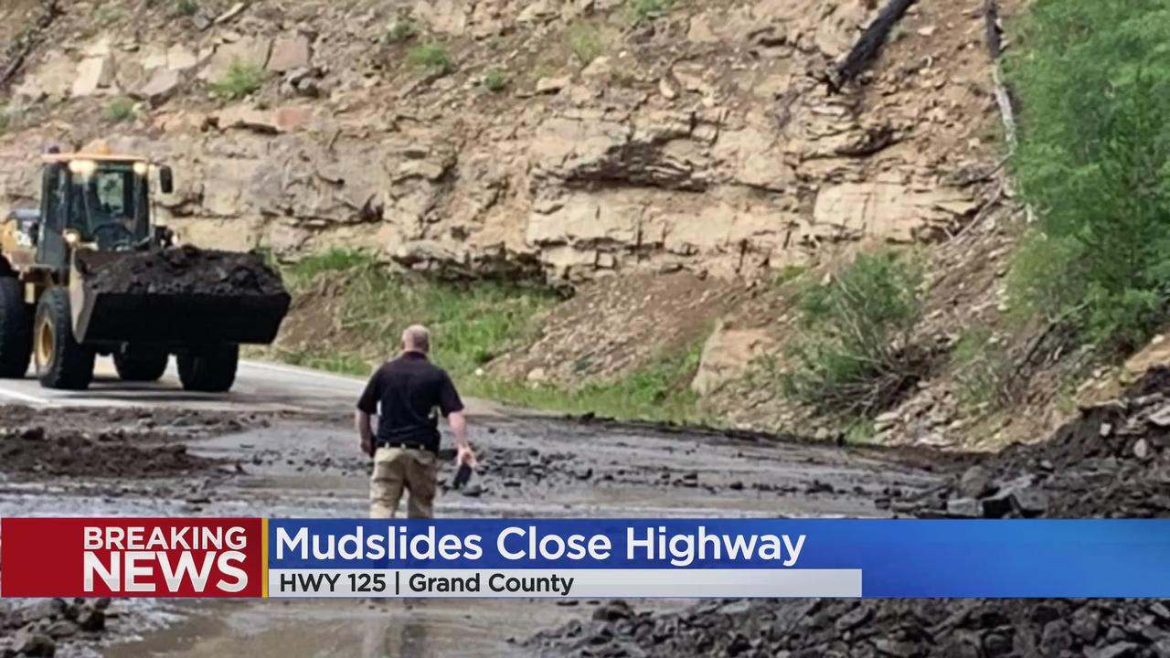 Highway 125 Closed In Grand County After 'Multiple Mudslides' Overtake All Lanes