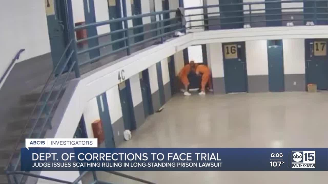 Judge orders Arizona Department of Corrections, Rehabilitation and Reentry to face trial
