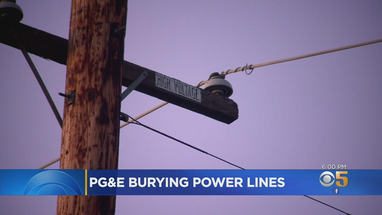 PG&E Announces Major Initiative To Bury Power Lines In Wildfire Areas