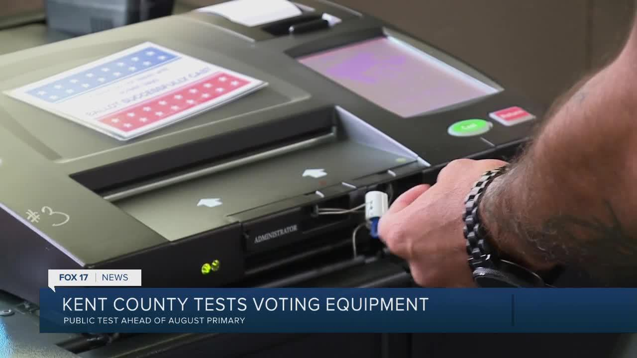 Kent County tests voting equipment