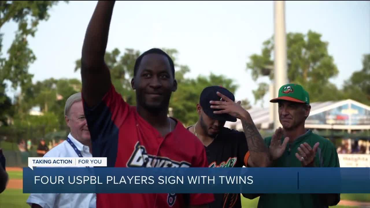 Four USPBL players sign with Twins organization