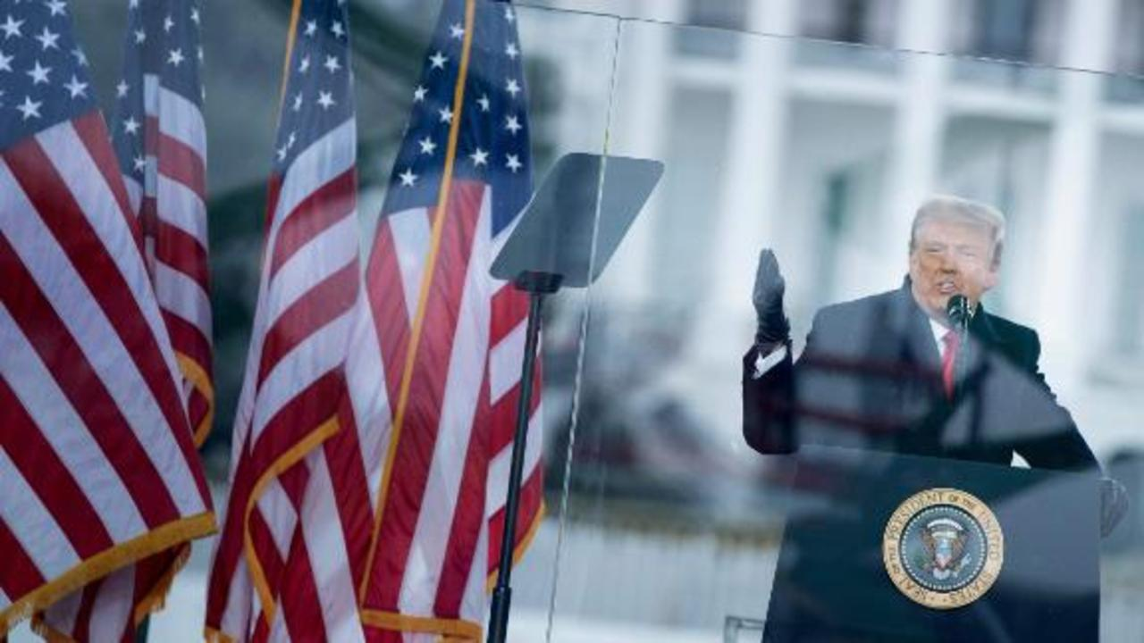 Trump calls crowd during January 6 speech a 'loving crowd'