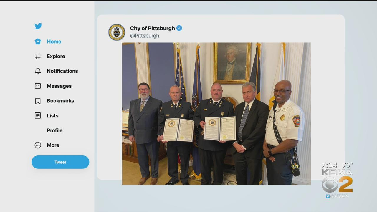 Mayor Peduto Honors Two Firefighters That Helped In Florida