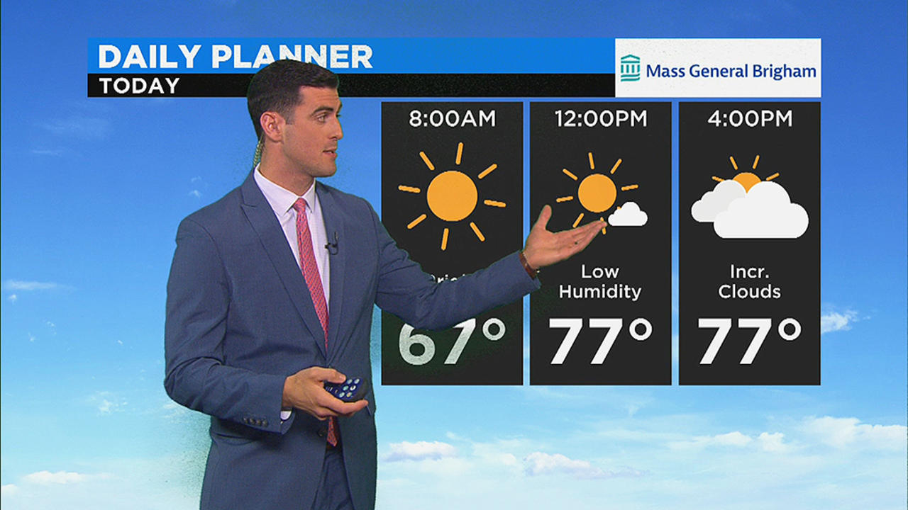 WBZ Morning Forecast For July 22