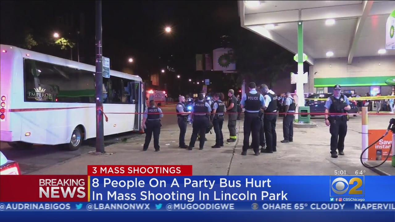 8 People On Party Bus Injured In Shooting In Lincoln Park; 2 Mass Shootings Reported In Lawndale Hours Before