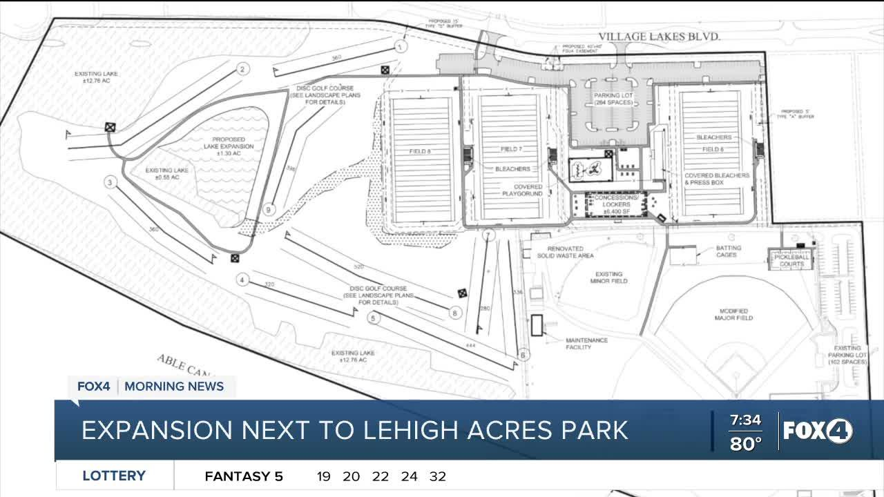 Amenities included in Lehigh Acres Park Expansion