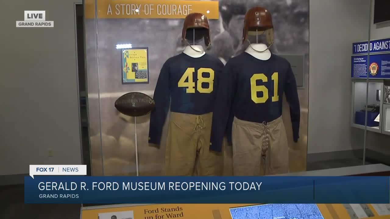 Ruta tours the Gerald R. Ford Presidential Museum
