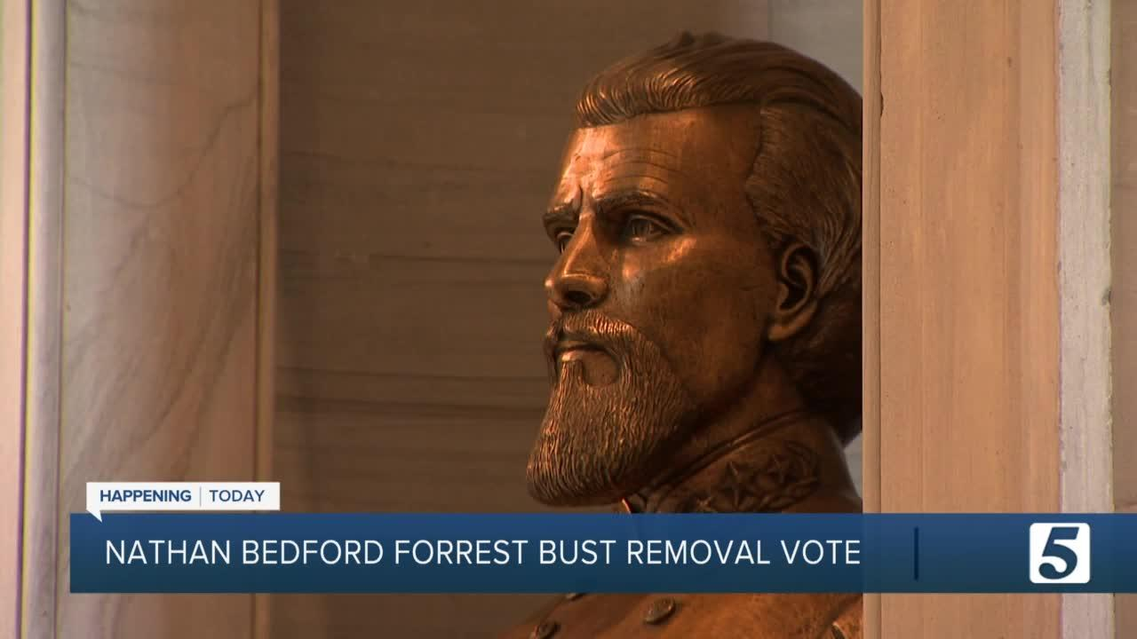 Nathan Bedford Forrest bust could be removed from Capitol today