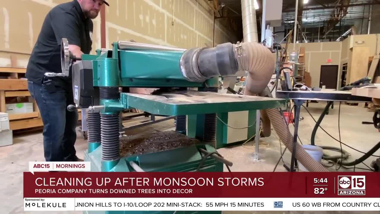 Cleaning up after monsoon storms