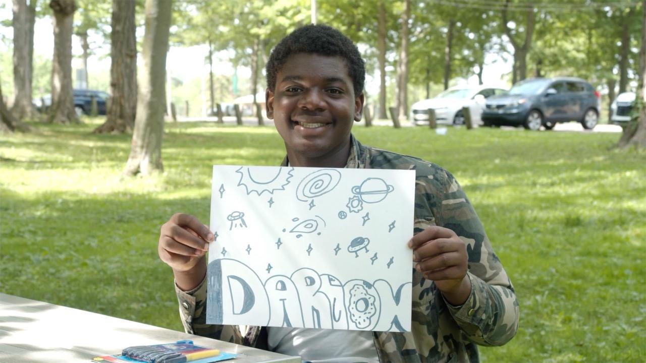 Grant Me Hope: Darion loves shooting hoops, drawing and dancing