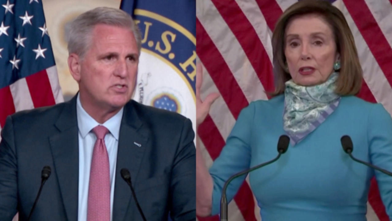 House GOP Leader McCarthy Pulls His 5 GOP Members From Jan. 6 Select Committee Following Pelosi's Rejection