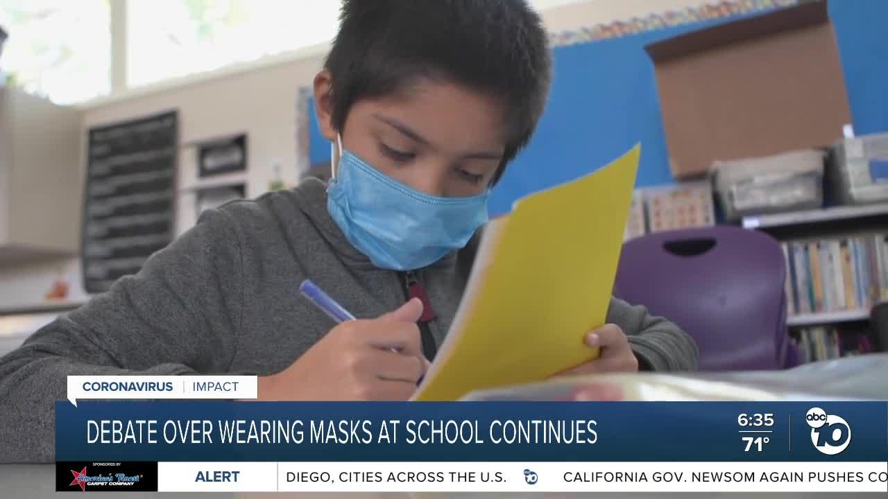 Debate over wearing masks at school continues