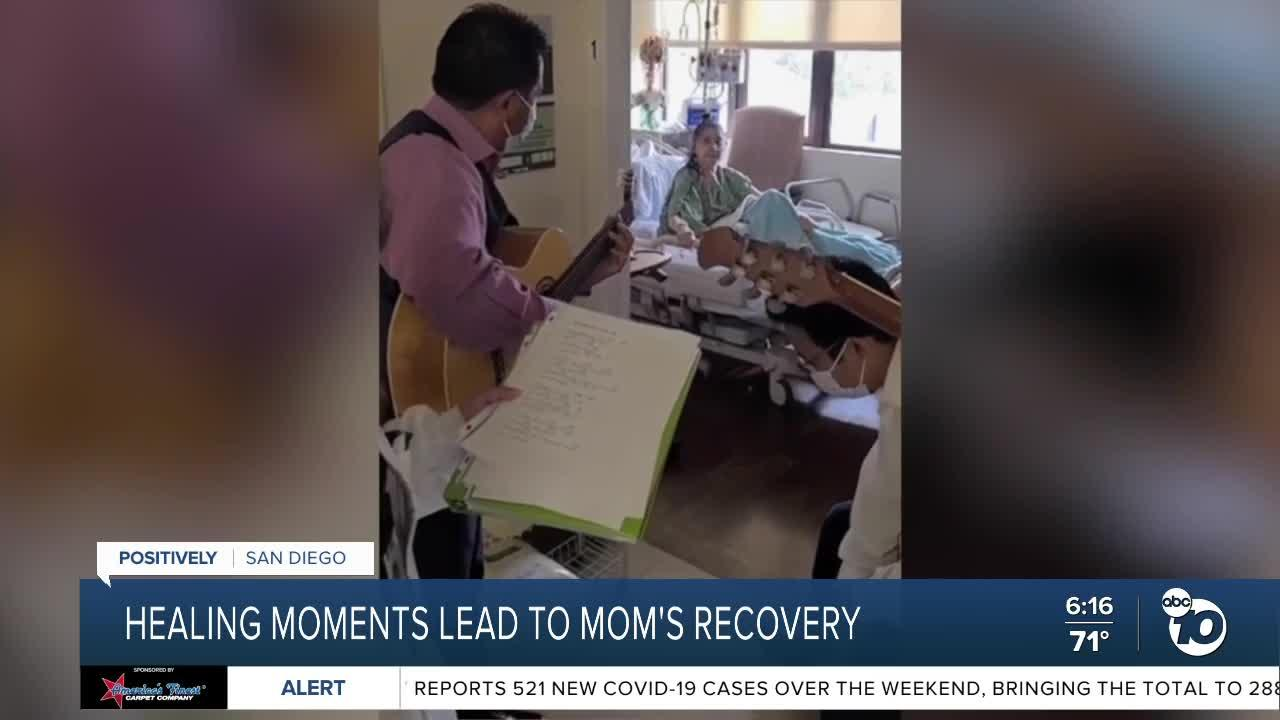 Healing moments lead to mom's recovery