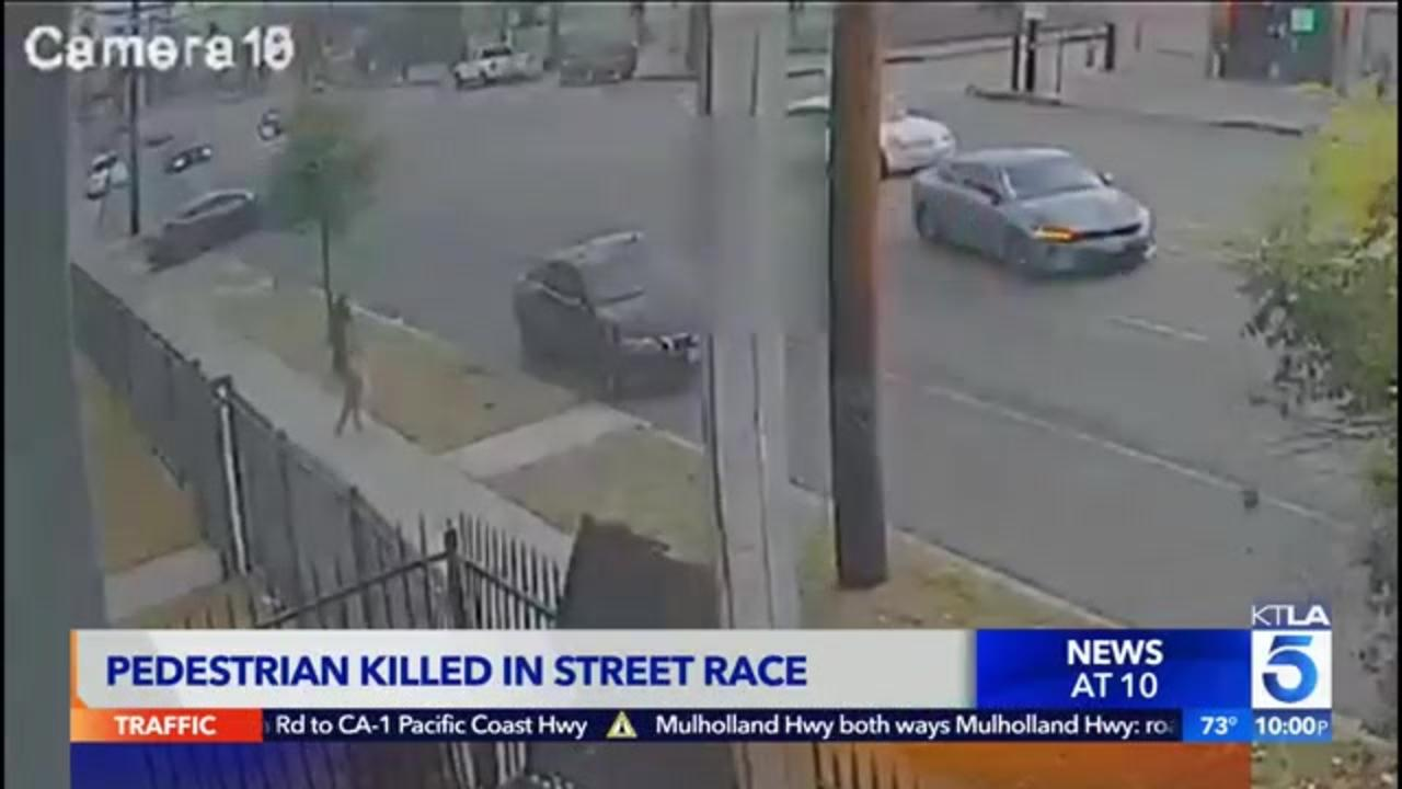 Video released in search for drivers in deadly LA street racing hit-and-run