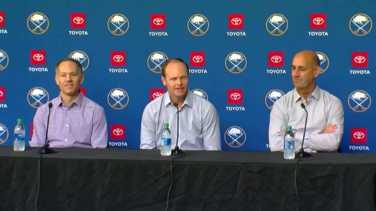 WATCH: Buffalo Sabres GM Kevyn Adams talks NHL Draft