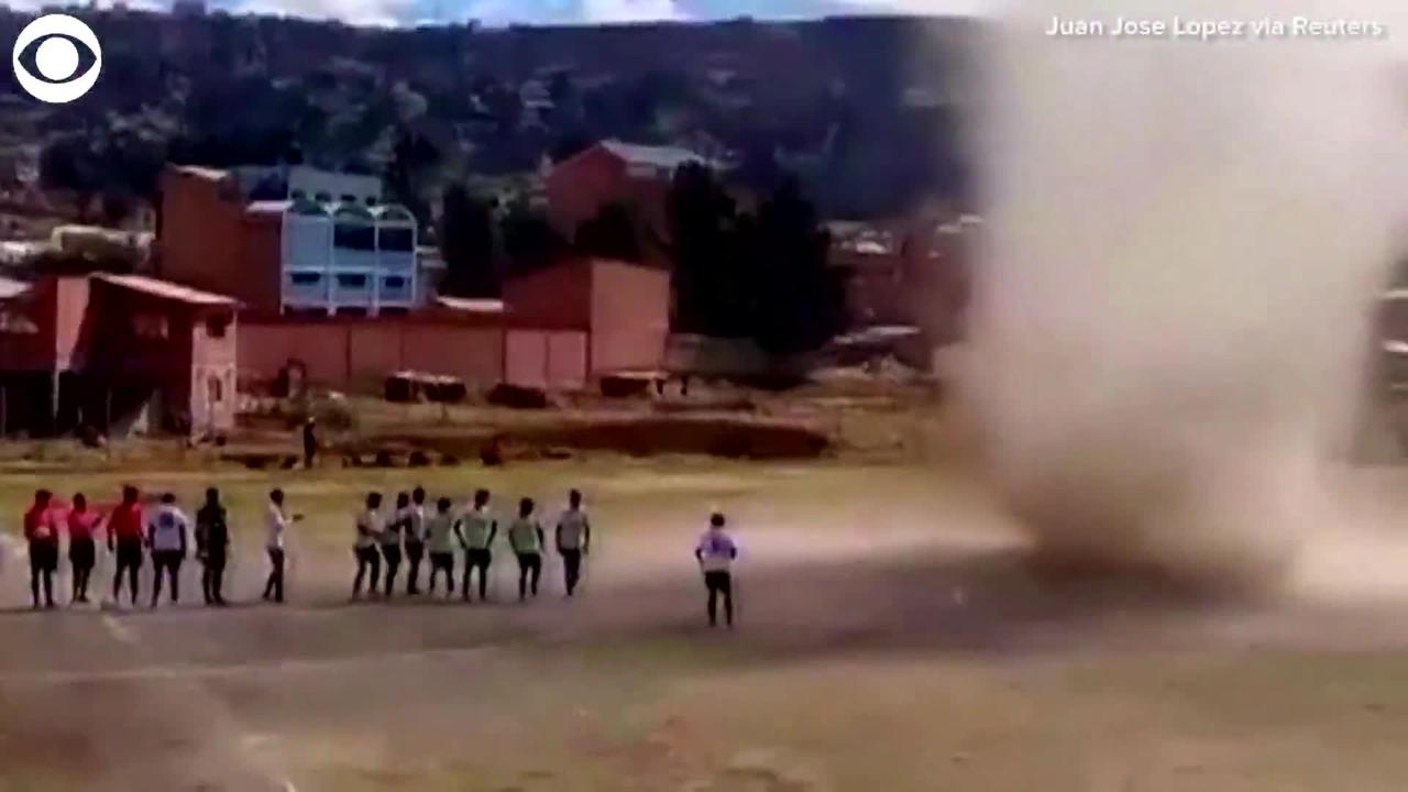 WEB EXTRA: Dust Devil Interrupts Soccer Game In Bolivia