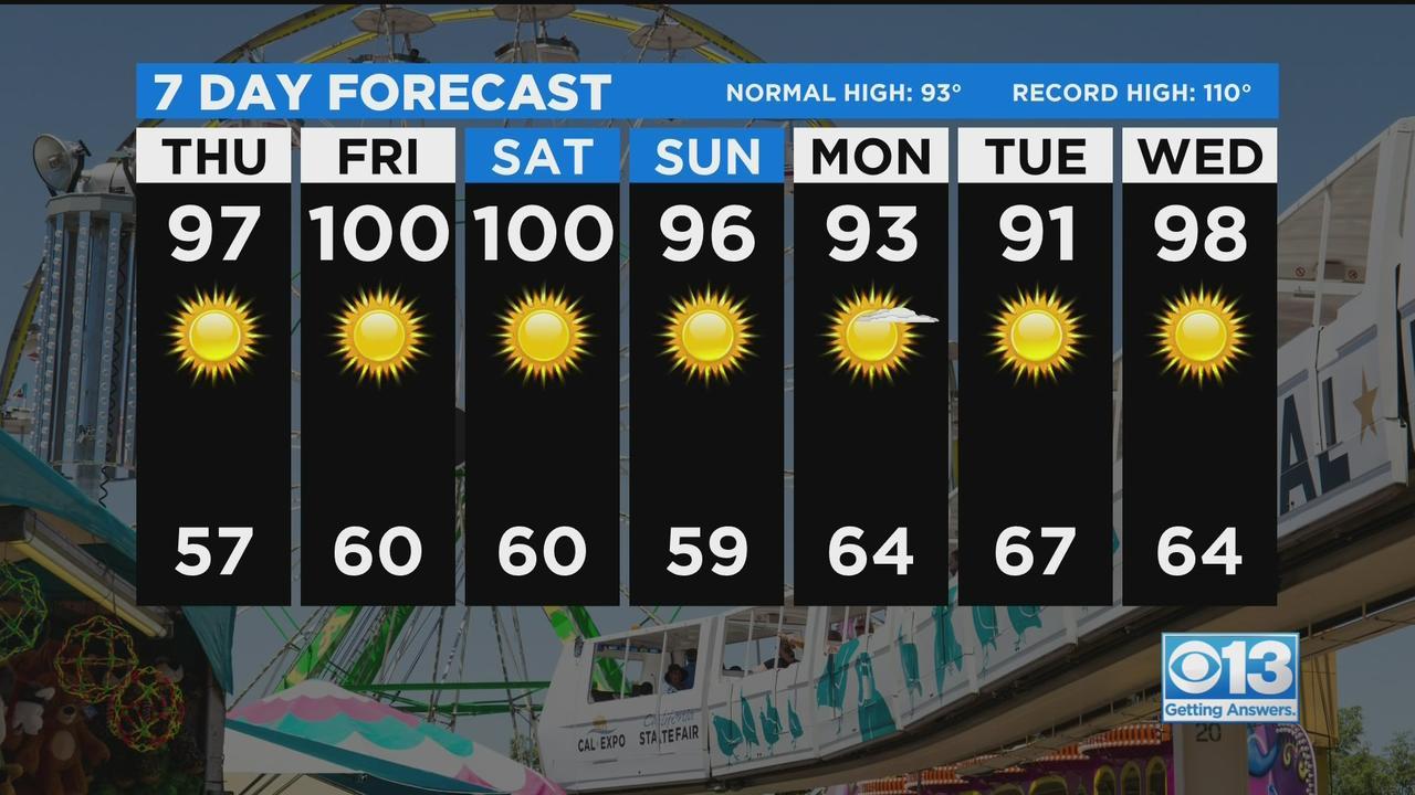 Thursday Weather Forecast - July 22, 2021