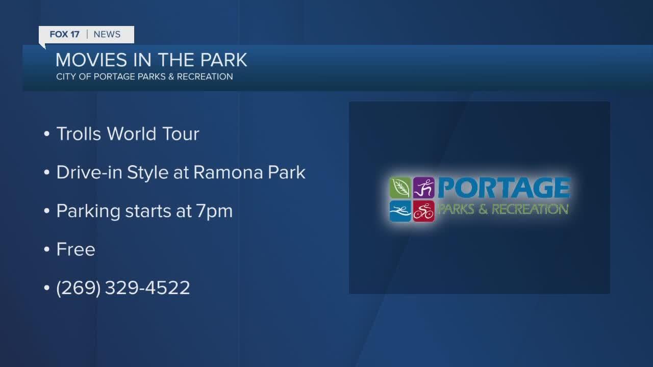 Movie Series being held at Romana Park in Portage