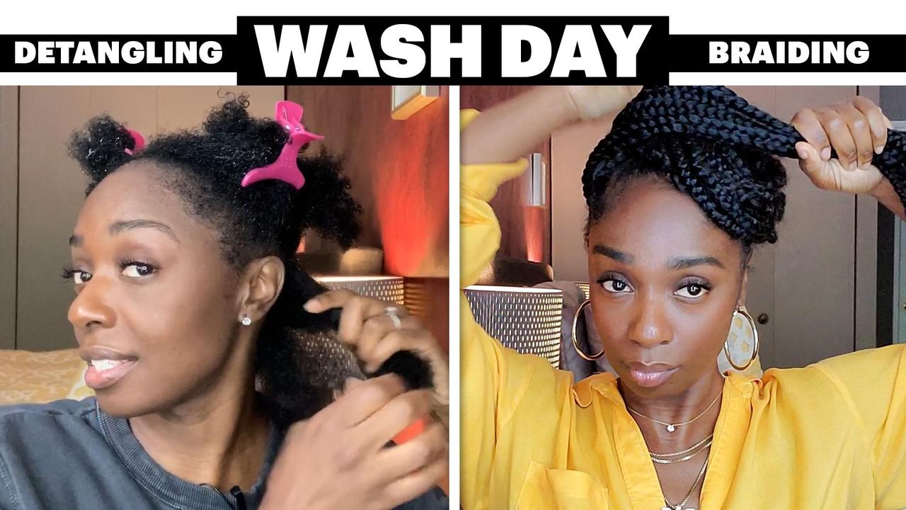 My 6-Step Wash Day Routine For Product Build-Up and Jumbo Box Braids