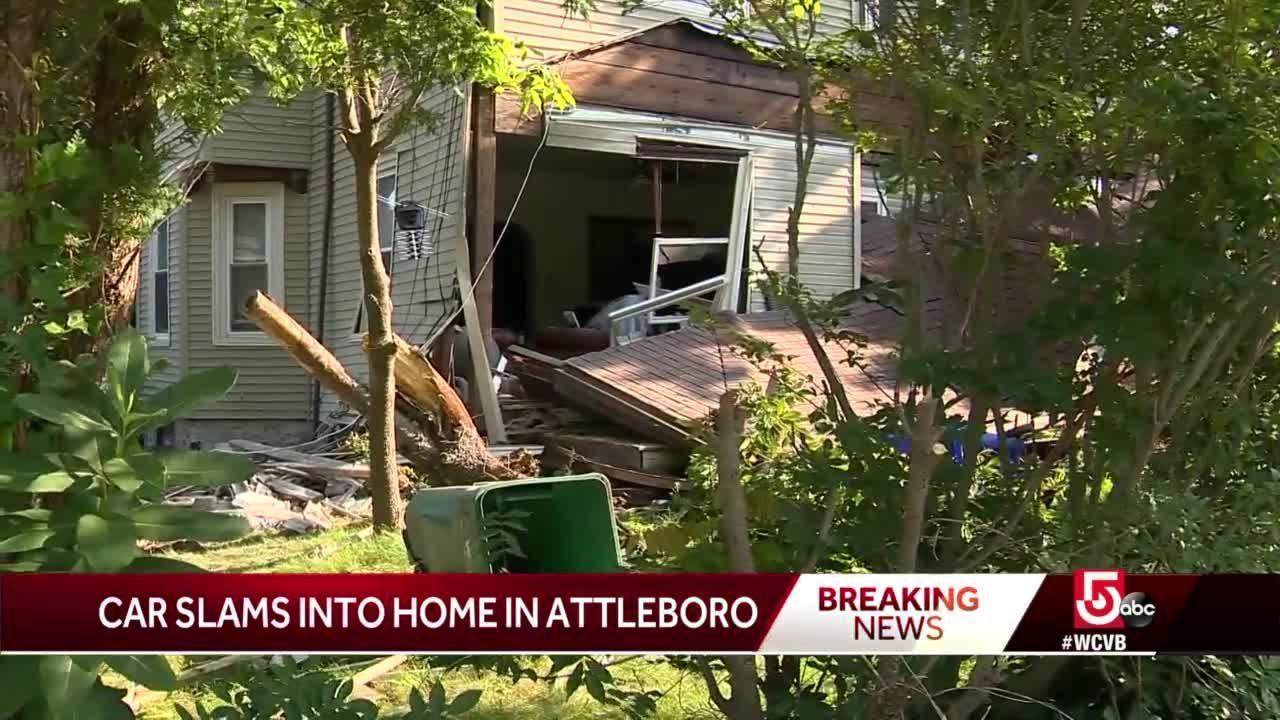 Driver to face charges after car slams into Attleboro home