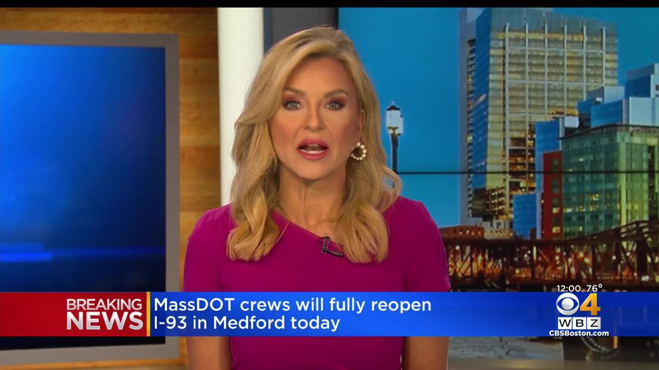 MassDOT Crews Will Fully Reopen I-93 In Medford Thursday Afternoon