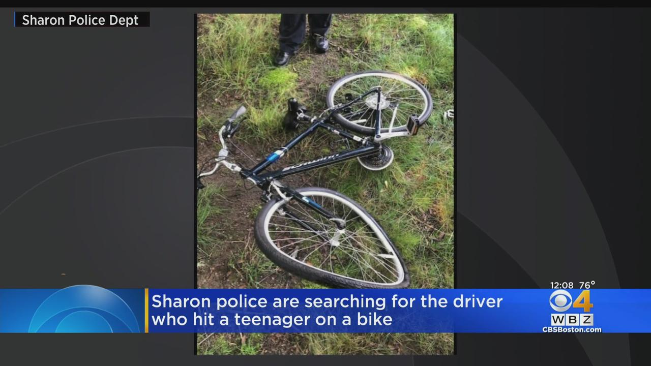 Sharon Police Searching For Driver Who Hit Teen On Bike