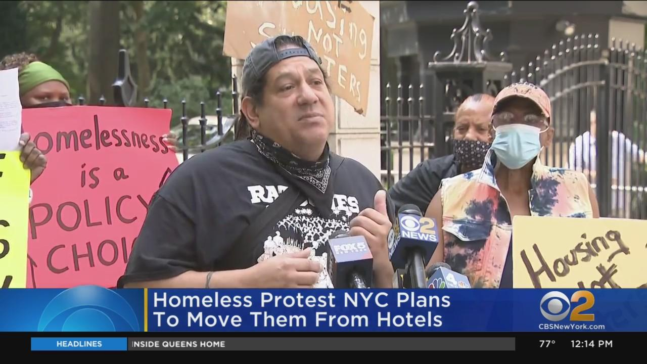 Homeless Protest City's Plan To Move Them From Hotels