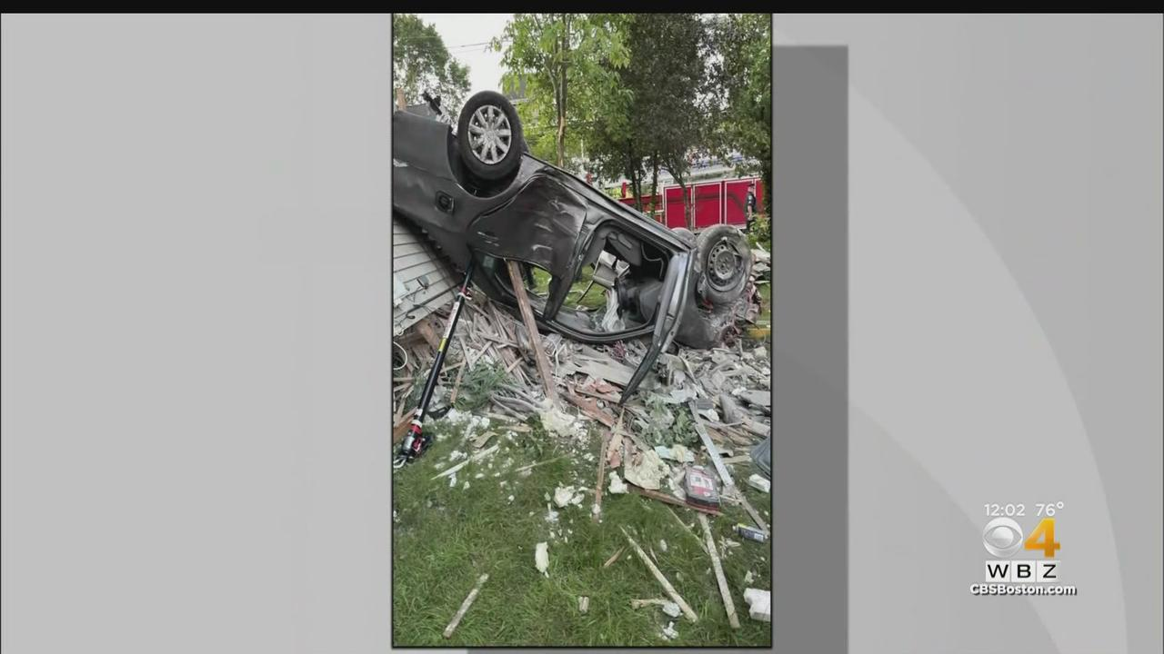 72-Year-Old Woman Hurt, Likely To Face Charges After Crashing Car Into Attleboro Home