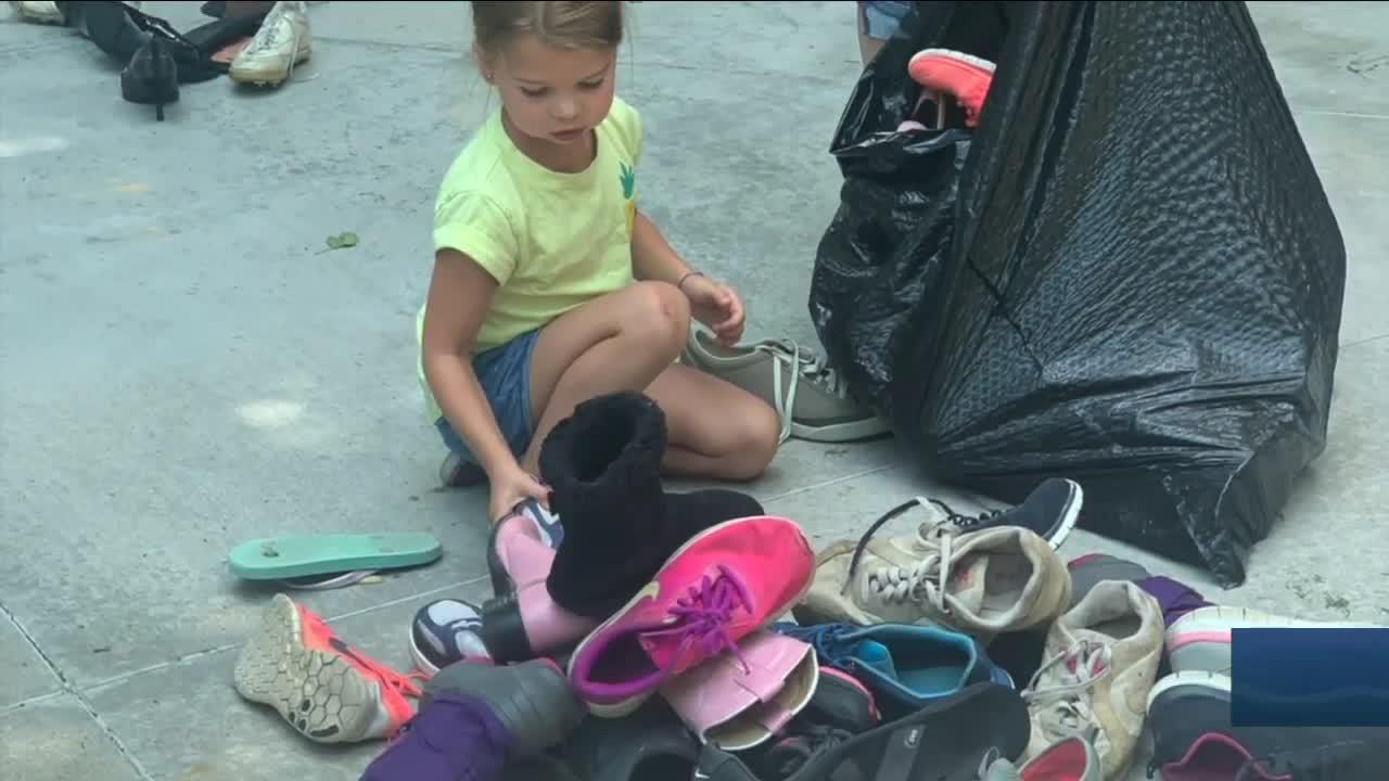 Shoe drive at elementary school in Broomfield