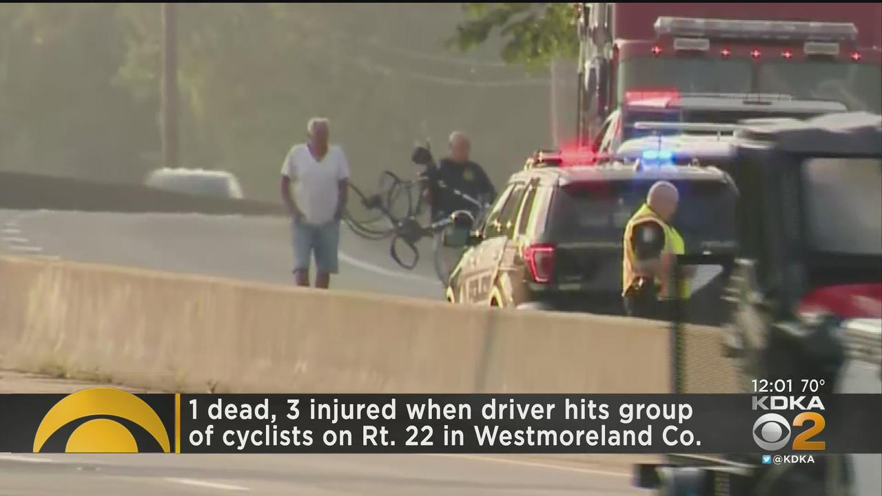 1 Dead, 3 Injured After Car Hits Cyclists On Route 22