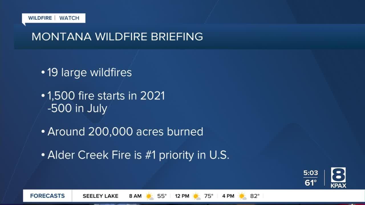 Gov. Gianforte receives wildfire briefing
