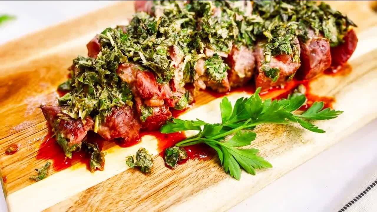 """""""Patagonia Lamb"""", herb-crusted leg of lamb"""