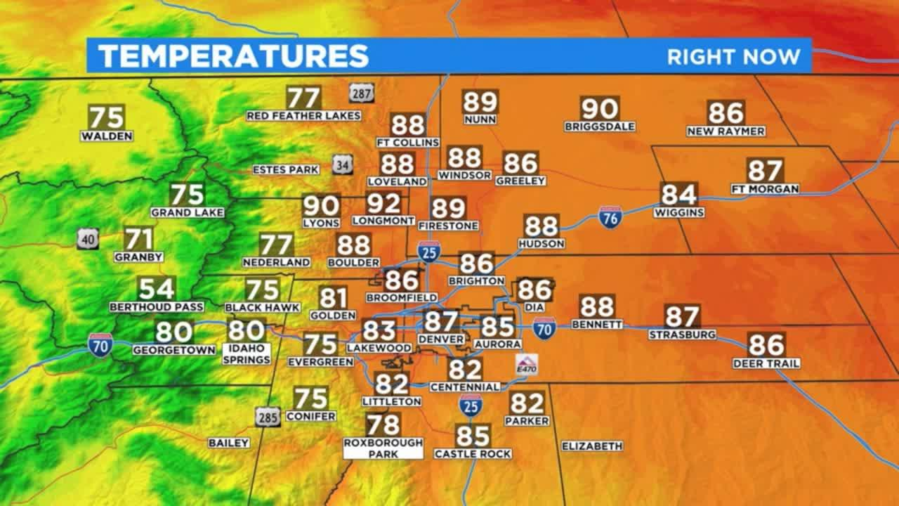 Denver Weather: Hot and Hazy