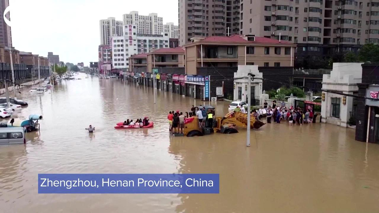 WEB EXTRA: Drone Footage Of Extensive Flooding in China