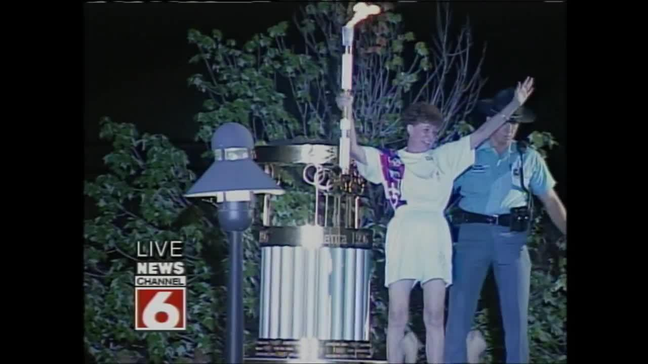 Olympic torch lit in Richmond