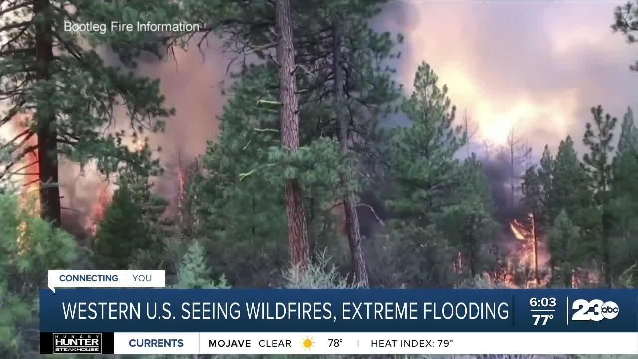 Western US. seeing wildfires, extreme flooding