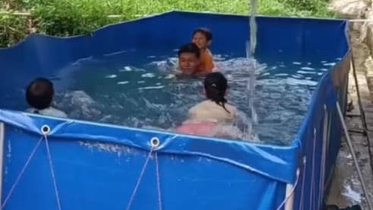This dad built a DIY swimming pool for his kids