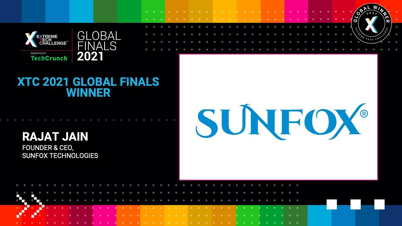 Extreme Tech Challenge Global Finals: Startup Pitches Part 2 - Sunfox