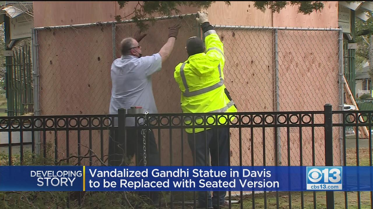 Vandalized Gandhi Statue In Davis To Be Replaced