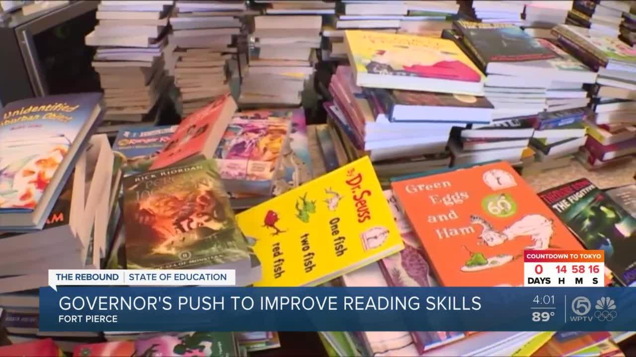 Florida Gov. Ron DeSantis promotes childhood literacy during stop at Indian River State College