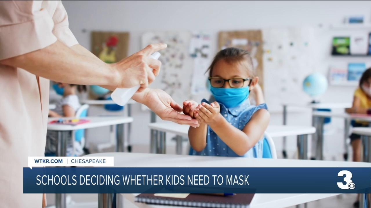Virginia school divisions weigh new mask guidlines
