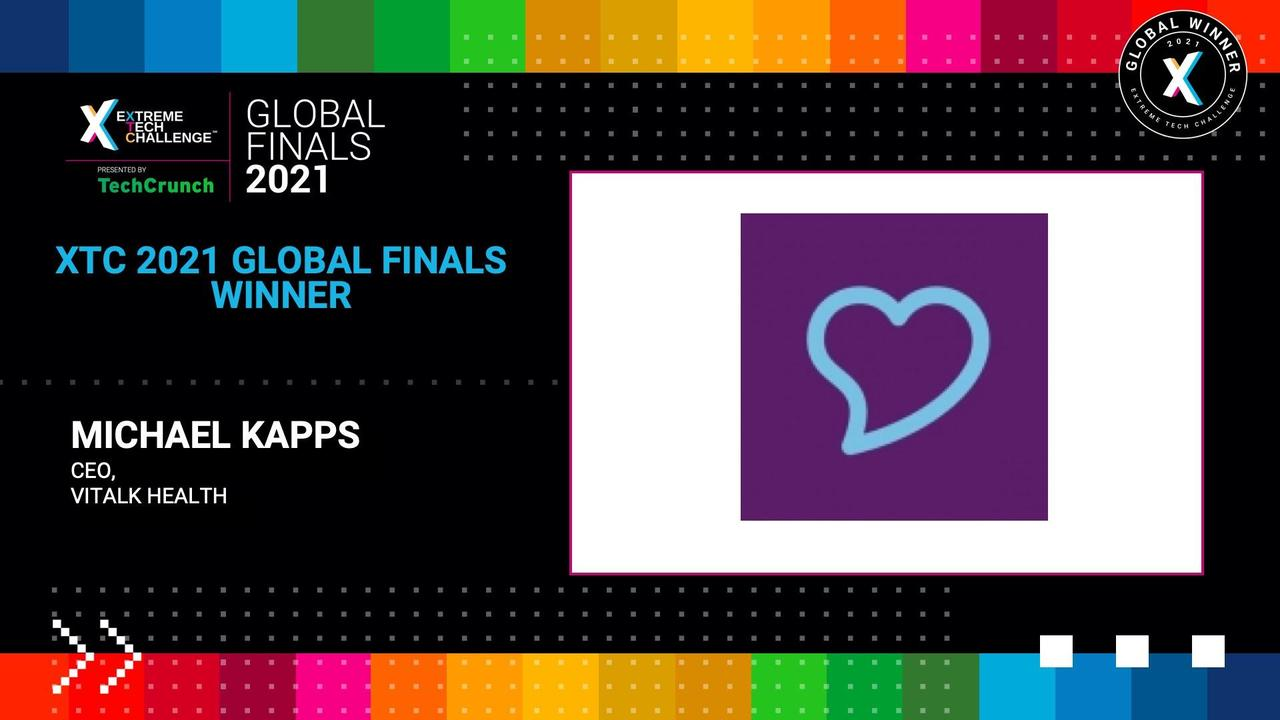 Extreme Tech Challenge Global Finals: Startup Pitches Part 2 - Vitalk