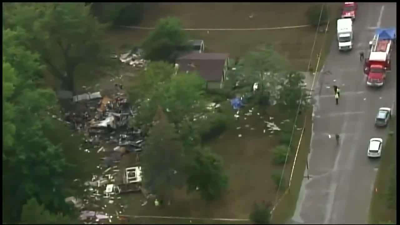 RAW VIDEO: Aerials Of Princeton House Explosion