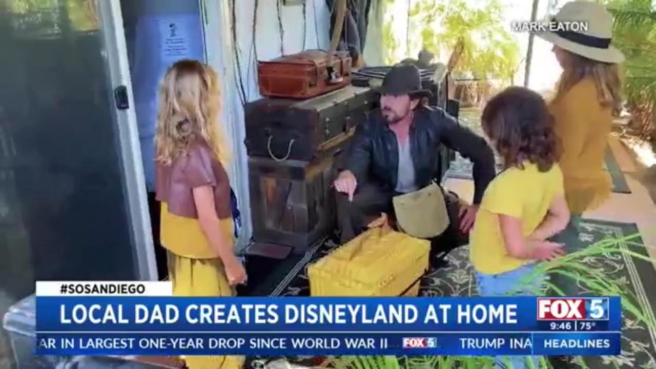 Dad creates 'Disneyland at home' for daughter's birthday